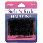 Soft 'n Style Bronze Carded Hair Pins (CD-2082)