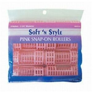 Soft 'n Style Jumbo Pink Snap On Roller (00413)