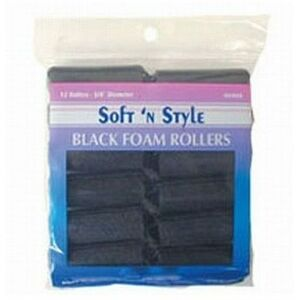 Soft 'n Style Medium Black Foam Roller (00405)