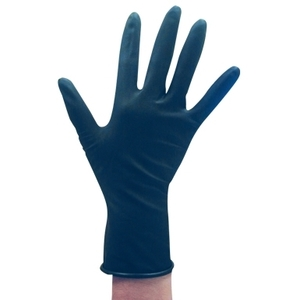 Soft 'n Style Medium Black Latex Powder Free Glove