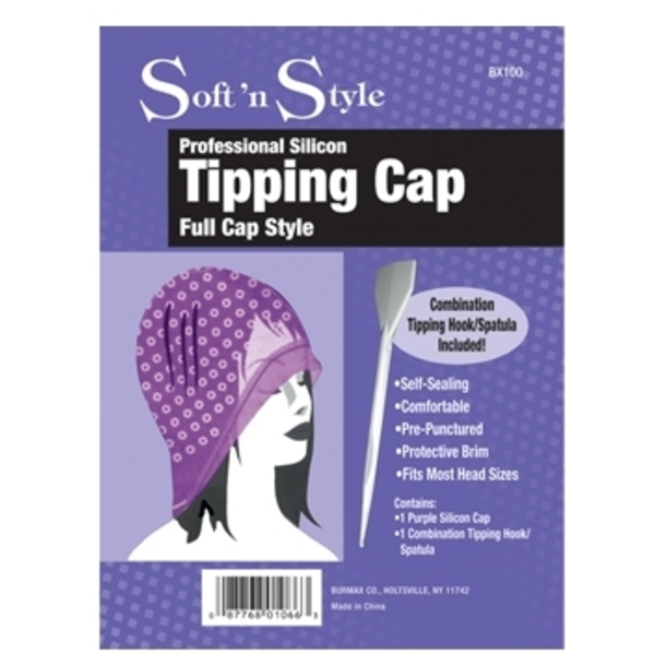 Soft 'n Style Purple Silicon Cap with Hook Spatula