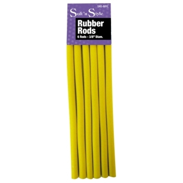 "Soft 'n Style Rubber Rod Long Yellow 3/8"" (SNS-"