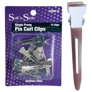Soft 'n Style Single Prong Clips 12 Per Card (CD59