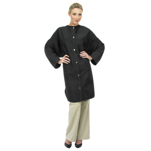 Betty Dain Crinkle Nylon Big Shirt Snap Black