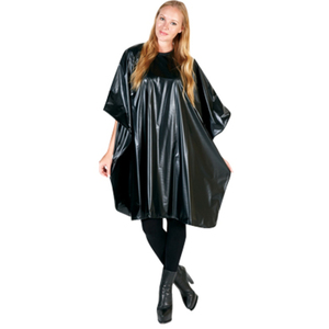 "Betty Dain Jumbo Vinyl Shampoo Cape 45"" X 54"" Bl"