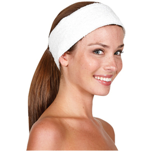 Betty Dain Terry Cloth Headband Velcro White (BD