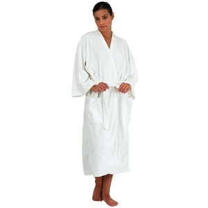 "Canyon Rose Microfiber Robe ML 48"" L White (BD-"