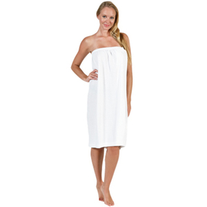 "Canyon Rose Terry Spa Wrap Top Velcro 33"" White"