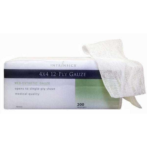 Intrinsics Med-Esthetic Gauze 4X4 opens to 16X12