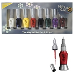 Nubar Two Way Nail Art Art Pen & Striper Set Cre