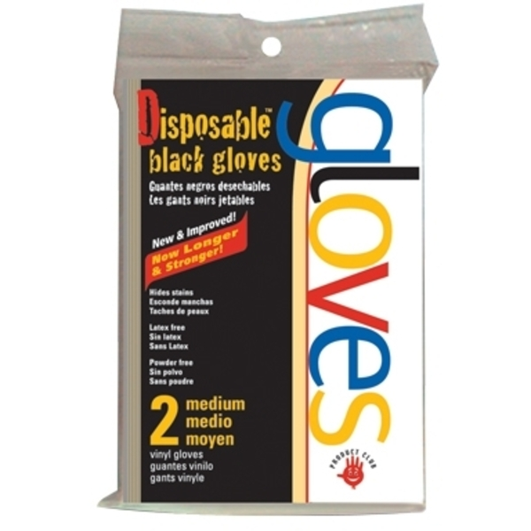 Product Club Black Vinyl Glove 2 Count (BVGPF-2R