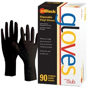 Product Club Xtreme Black Gloves Medium 100 Co