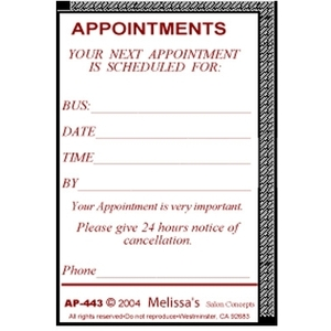 Melissa's Appointment Receipts (MEL-443)