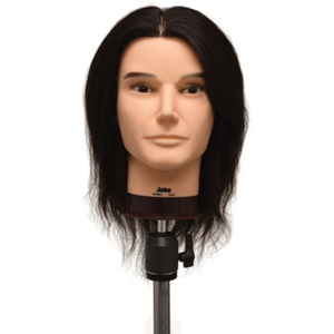 "Celebrity Jake Budget Male Human Hair Manikin 18"" Brown Hair (658)"