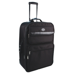 Expandable Suitcase On Wheels with Telescopic Handle by City Lights (NY900-BK)