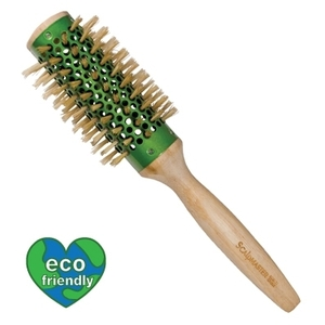 "Scalpmaster Bamboo Collation - 2-12"" Round BoarNylon Bristle Brush (SC9171)"