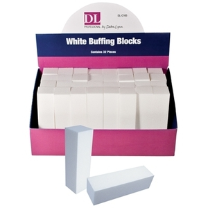 DL Professional - White Buffing Block Display - 32 Piece (DL-C165)