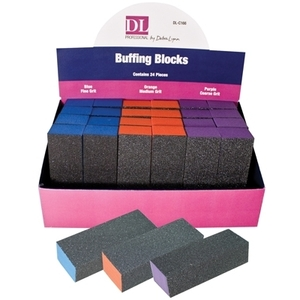 DL Professional - Colored Buffing Block Display - 24 Piece (DL-C166)