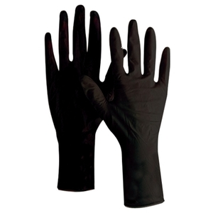 Product Club - Reusable Black Latex Gloves 12 Per Box - Size: Medium (JBLG-12M)