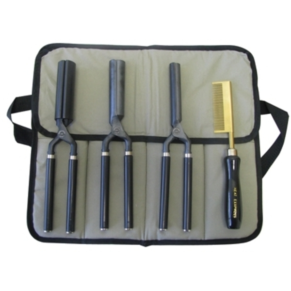 Golden Supreme - Heat Exxpress Curling & Pressing Comb Set - 5 Piece (GSHE41)