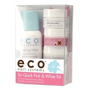 So Quick Pink & White Soak Off Gel Kit (ST-ECO1178)