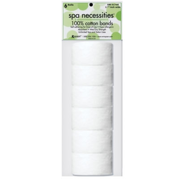 "Cotton Bands 180"" X 1.25"" - 6 RollsPack (22801003)"