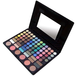 Make Up Kit with 60 Shadow 6 Blush 12 Brow (WX78)