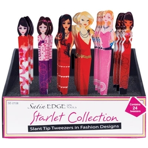 Starlet Collection 24 Piece Tweezer Display (SE-2108)