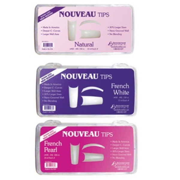 Nouveau Tips - French White 150 Count (BS-500415C)