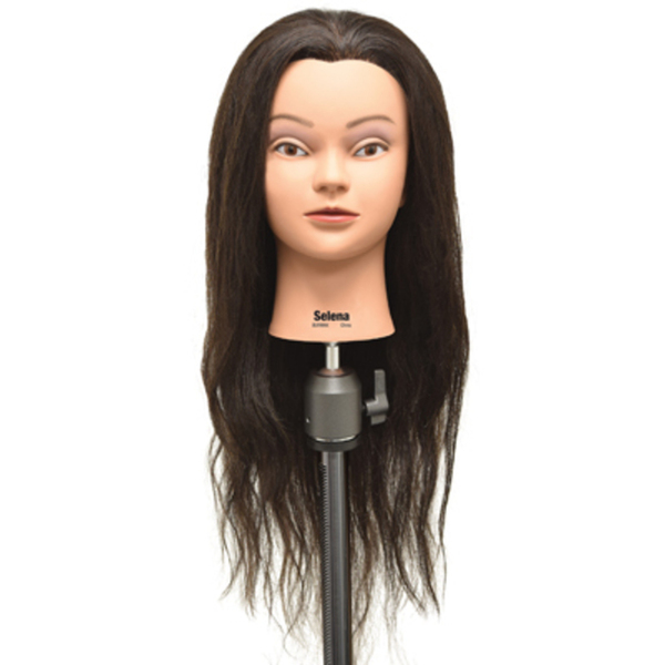 "Selena 100% Human Hair Manikin - 28""-30"" Dark Brown Hair (670)"