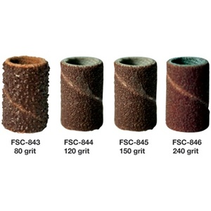 80 Grit - Coarse Sanding Bands for Mandrel Bits 100 Pack (FSC-843)