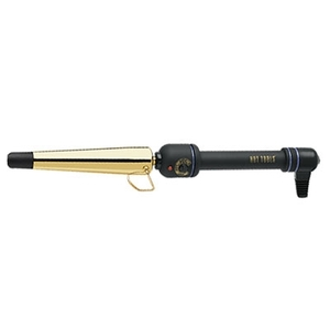 "Curly-Q 1-14"" Grande Gold Tapered Curling Iron + FREE Heat Resistant Glove (HTL-HTG1852)"