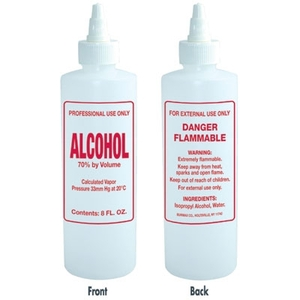 Imprinted Nail Solution Bottle - Alcohol 8 oz. with Twist Top (B60)