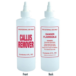 Imprinted Nail Solution Bottle - Callus Remover 8 oz. with Twist Top (B61)