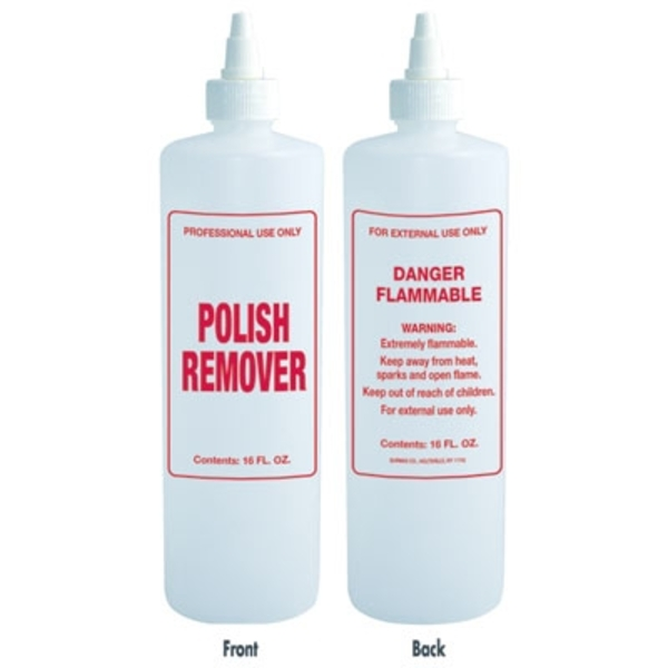 Imprinted Nail Solution Bottle - Polish Remover 16 oz. with Twist Top (B67)