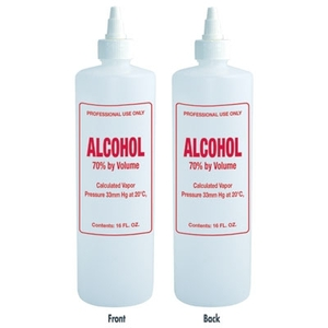 Imprinted Nail Solution Bottle - Alcohol 16 oz. with Twist Top (B69)