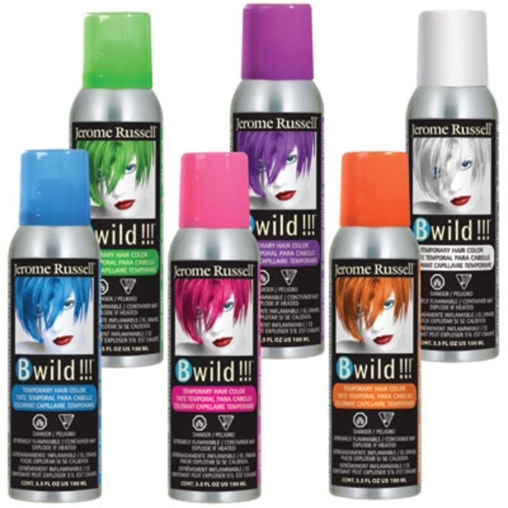 Bwild Temporary Hair Color Spray Siberian White 3 5 Oz By Jerome Russel Jru 02856
