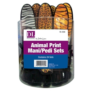 Animal Print ManiPedi Sets 24 Sets in Counter Display (DL-C228)