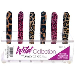 Animal Print Tweezers in a Display 24 Pieces (SE-2115)
