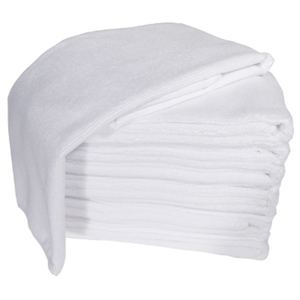 Microfiber Towels 10 Pack - White (TOW-10-WH)