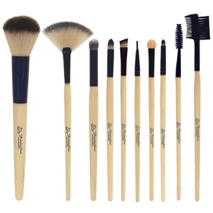 Professional Bamboo Cosmetic Brush Set 10 Brushes (FSC666)