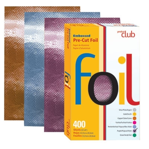 "5"" x 8"" Embossed Foil Pre-cut Sheets - Purple 400 Count (EF400-PU)"