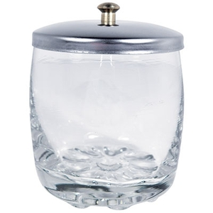 "Glass Jar with Stainless Steel Lid 2-14"" H X 1-1516"" Diameter (DL-C288)"