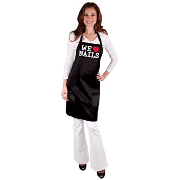 Expressions All-Purpose Nail Tech Apron - We Heart Nails Once Size Fits Most (4075)