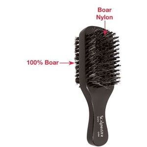 "7"" 2-Sided Club Brush - 100% Natural Boar Bristles 8 Rows (SC2212)"