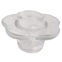 Glass Flower Shaped Dappen Dish (DL-C352)