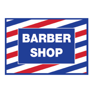 Barber Shop Cling Decal Sticker (SC-9014)