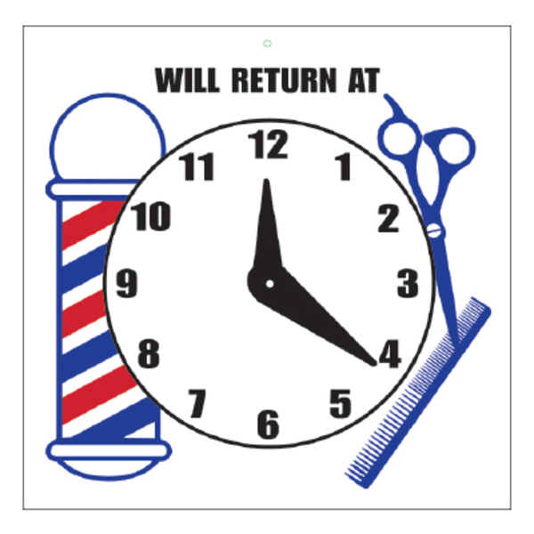 Will Return At Sign with Clock (SC-9017)