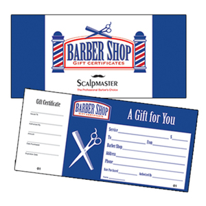 Book of 50 Barber Shop Gift Certificates (SC-GC50)