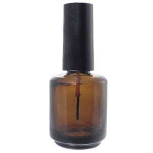 Empty Nail Polish Bottle - Amber Glass - 0.5 oz. Case of 360 Bottles (DL-C370)
